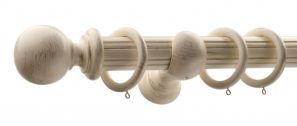 50mm Monarch Countess Cream Gold Complete Curtain Pole Set 240CM