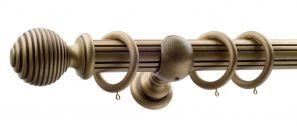50mm Monarch Earl Bronze Complete Curtain Pole Set 300CM