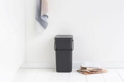 Brabantia Sort & Go Waste Bin 16-Litre Grey