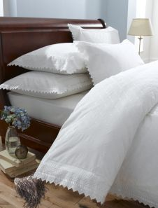 Broderie Balmoral White Duvet Cover Set King
