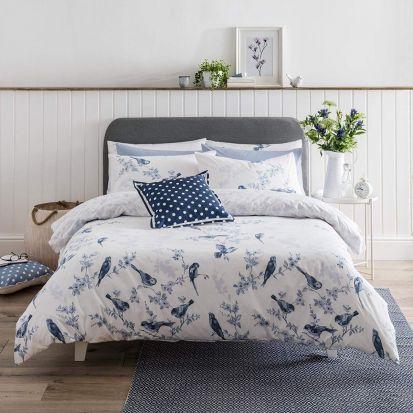 Cath Kidston British Birds Blue Duvet Cover Set - Single