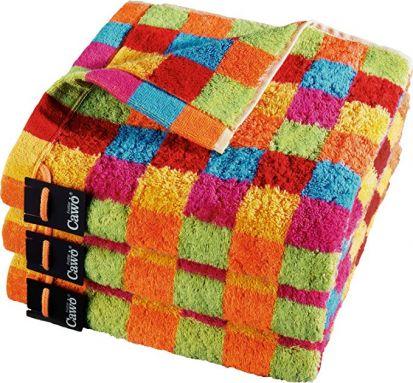 Cawo Lifestyle Karo Bright - Hand Towel