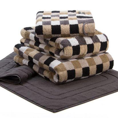 Cawo Lifestyle Karo Stone - Bath Towel