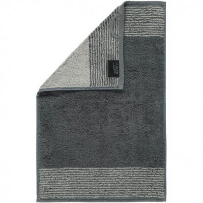 Cawo Two-Tone Slate Guest Towel