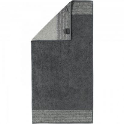 Cawo Two-Tone Slate Hand Towel