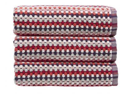 Christy Carnaby Stripe Hand Towel - Berry
