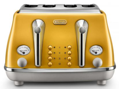 Delonghi Icona Capitals 4 Slice Toaster - Yellow