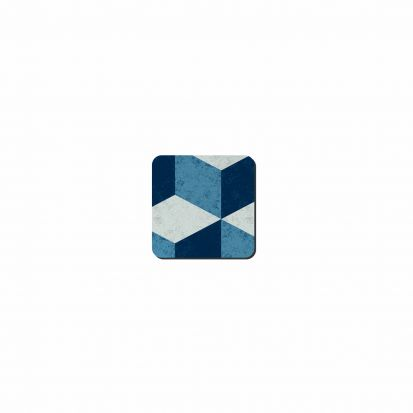 Denby Studio Blue Geometric Square Coasters Set of 6