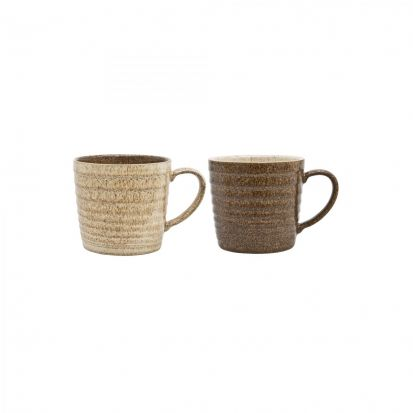 Denby Studio Craft 2 Piece Ridge Mug Set