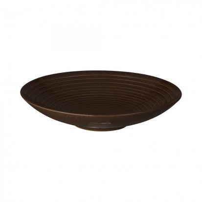 Denby Studio Craft Walnut Medium Ridged Bowl