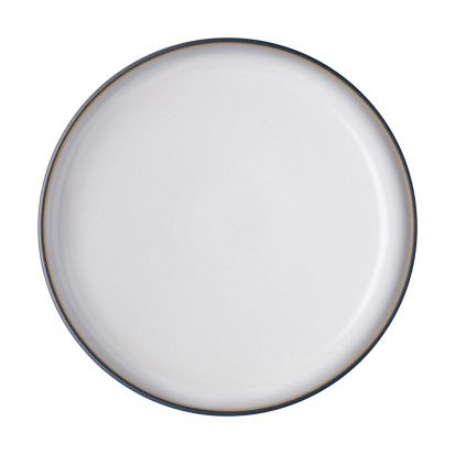 Denby Studio Grey Medium Coupe Plate - Quartz White