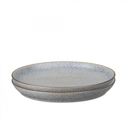 Denby Studio Grey Set of 4 Coupe Dinner Plates