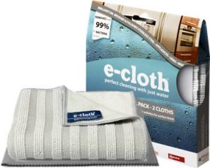 E-Cloth Stainless Steel Pack of 2 Cloths