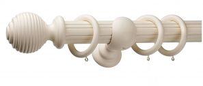 Monarch Earl Cream Complete Curtain Pole Set 240CM