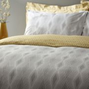 Bianca Cottonsoft Ziggurat Grey Duvet Cover Set - Double 2