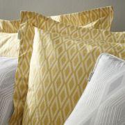 Bianca Cottonsoft Ziggurat Grey Oxford Pillowcase 2