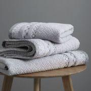 Catherine Lansfield Malawa Geo Bands Silver Towel Bale 2