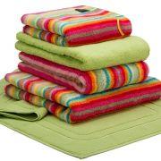 Cawo Lifestyle Stripe Bright - Face Cloth