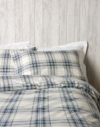 Christy Thurloe Check Duvet Cover Set Blue - Superking 2