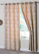 Malmo Champagne Readymade Eyelet Curtains 132