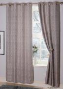 Valetta Interlined Eyelet Readymade Curtains Silver - 66